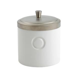 FLY-pot a coton en faience 10x10 cm blanc