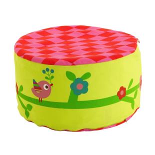FLY-pouf rond princesse multicolore
