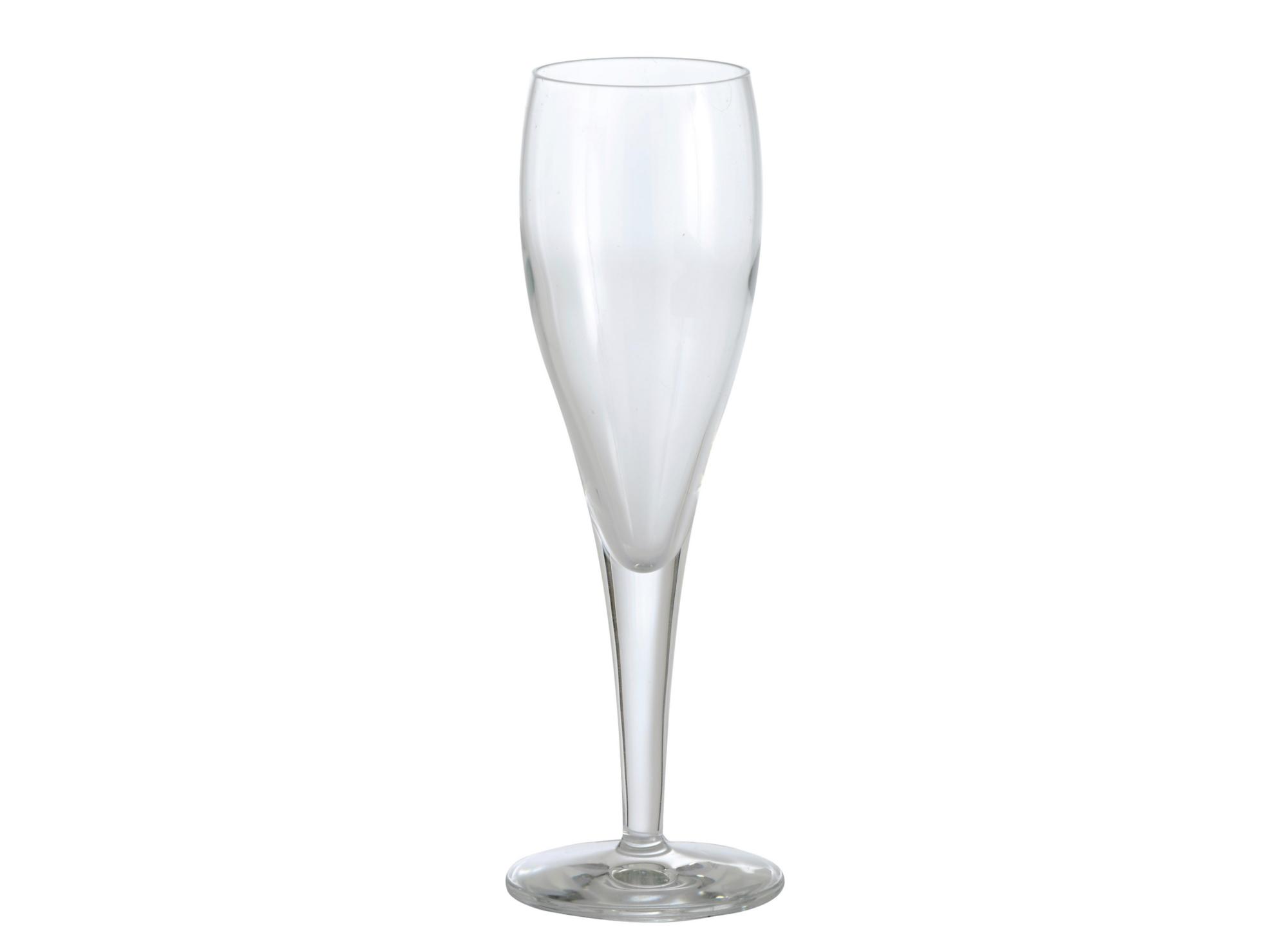 Flute en verre mecanique,transparent. contenance 19cl resiste au lave ...