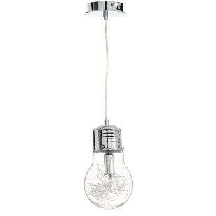 FLY-suspension ampoule h120cm transparent/chrome