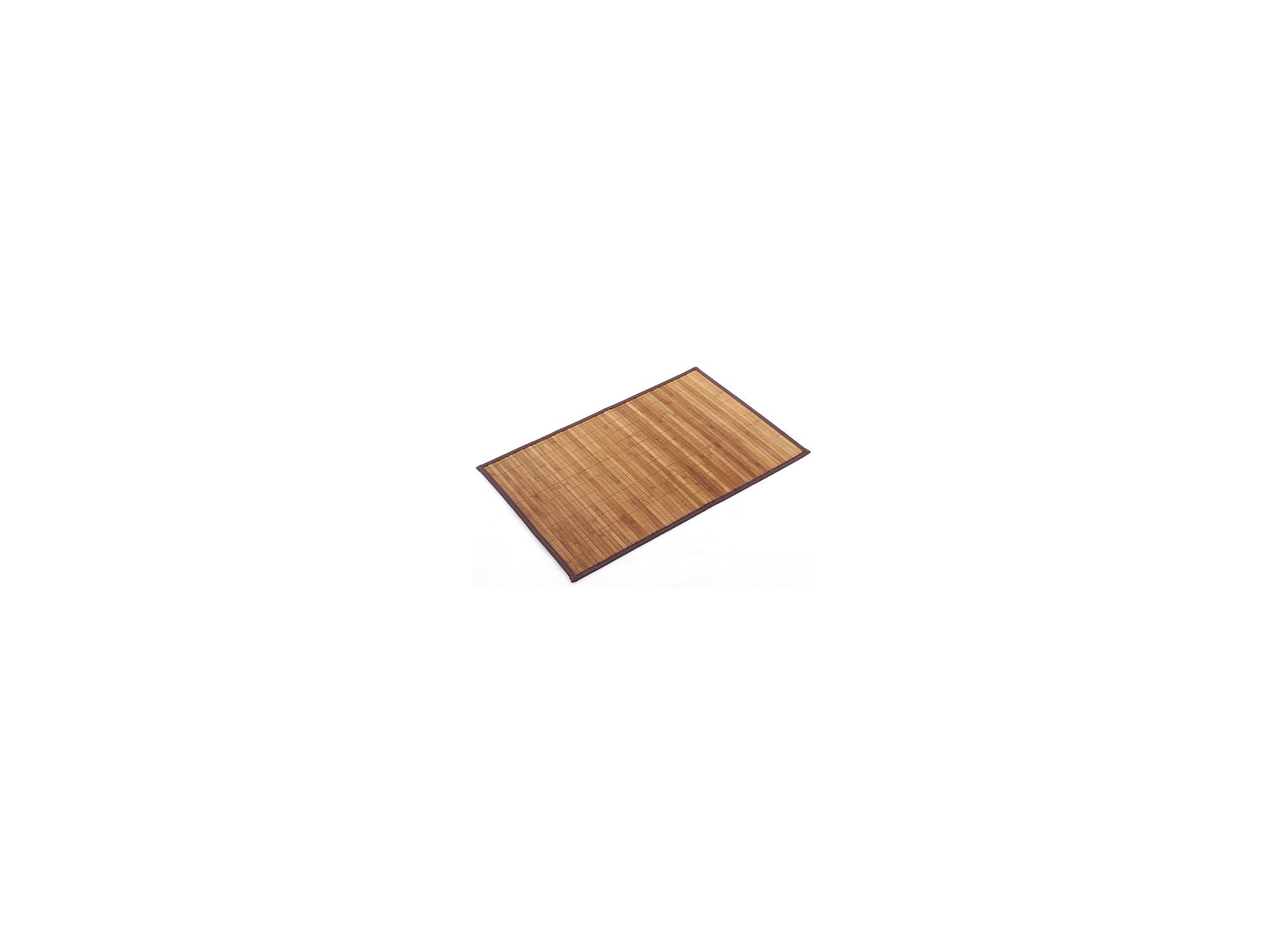 Tapis 60x90 en bambou large coloris brun sur mousse ganse 100% nylon ...