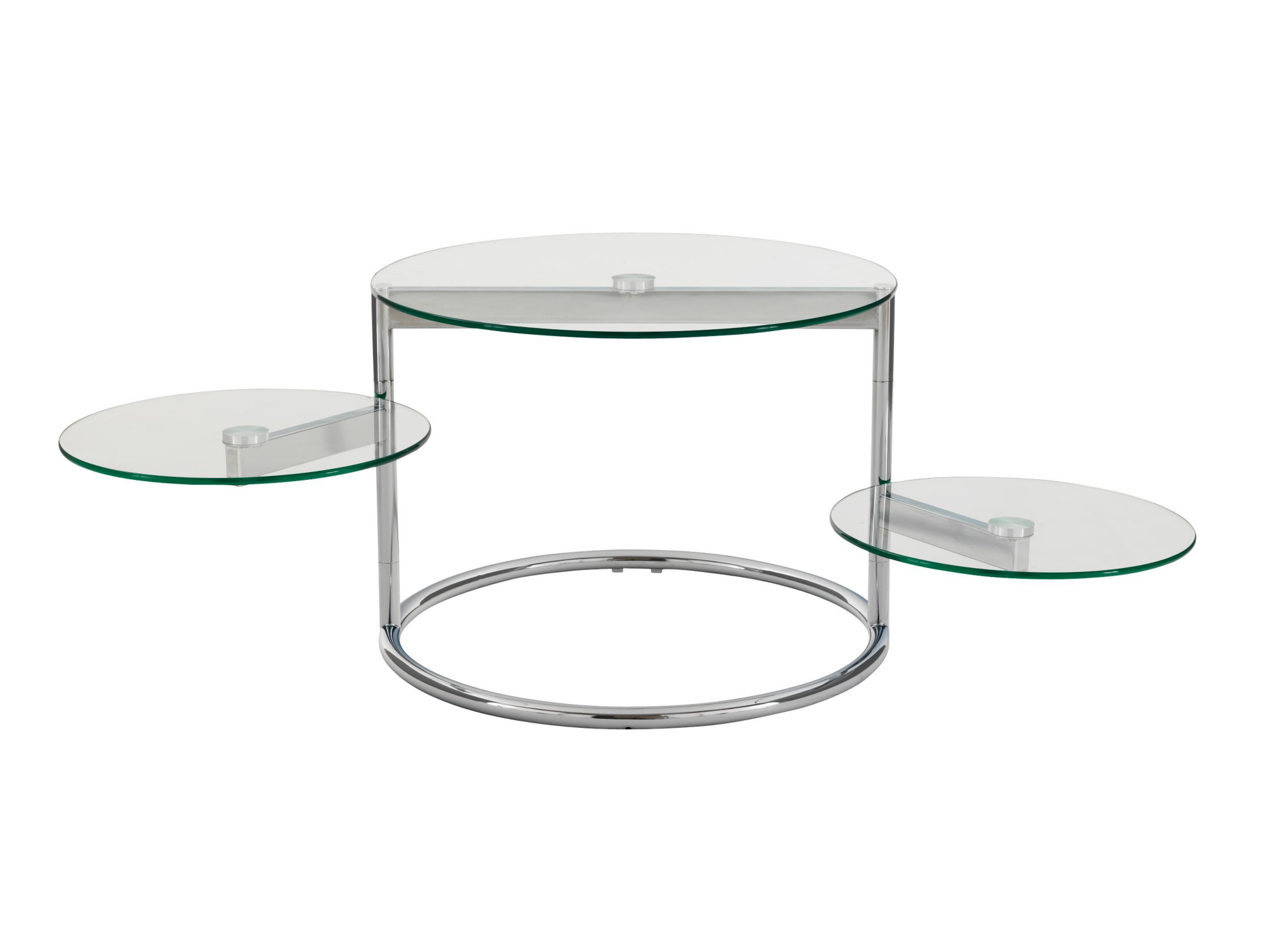 table basse 3 plateaux verre chrome fly. Black Bedroom Furniture Sets. Home Design Ideas