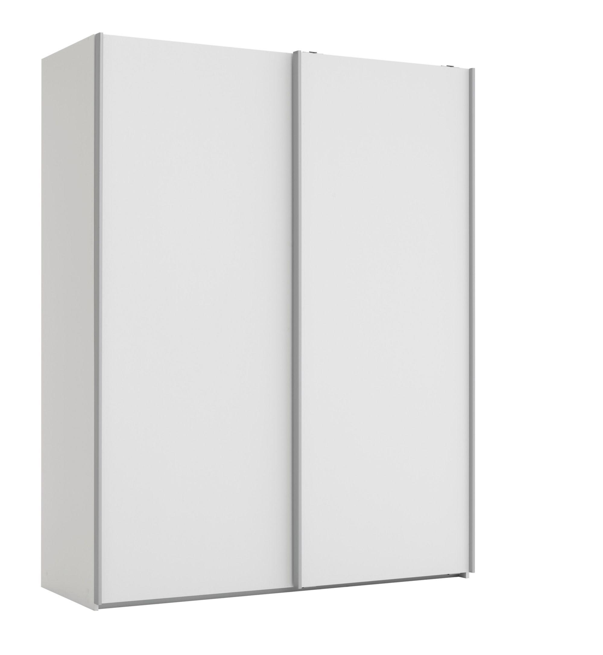 Armoire 2 portes l150 p61 cm blanc Armoire Chambre Meuble