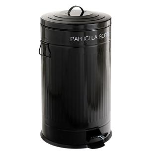 FLY-poubelle pedale 50 litres noir