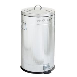 FLY-poubelle pedale 50 litres argent