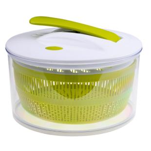 FLY-essoreuse a salade a piston diam. 22 cm blanc/vert