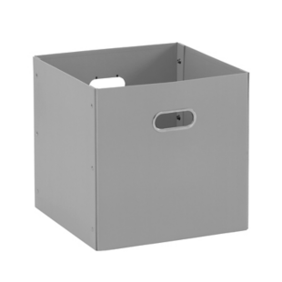 FLY-boite en carton/acier 32x32 gris souris