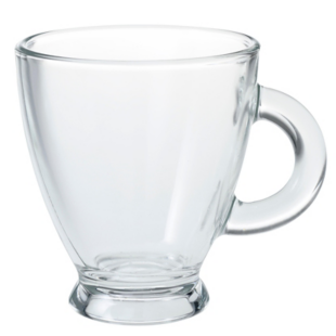 FLY-tasse a cafe en verre 15.5 cl transparent