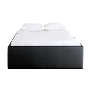 FLY-cadre de lit h47 cm 140x190 cm pu noir