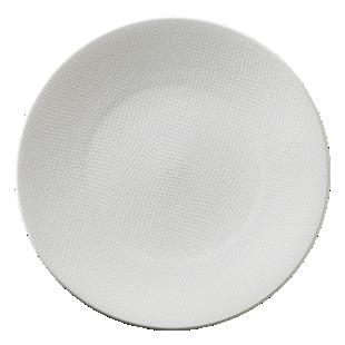 FLY-assiette dessert en gres d20.5cm blanc