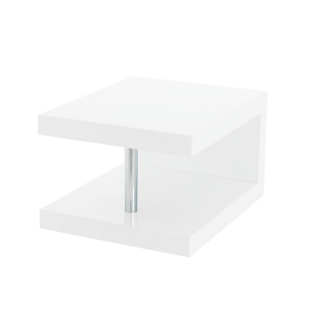 FLY-table/chevet blanc brillant