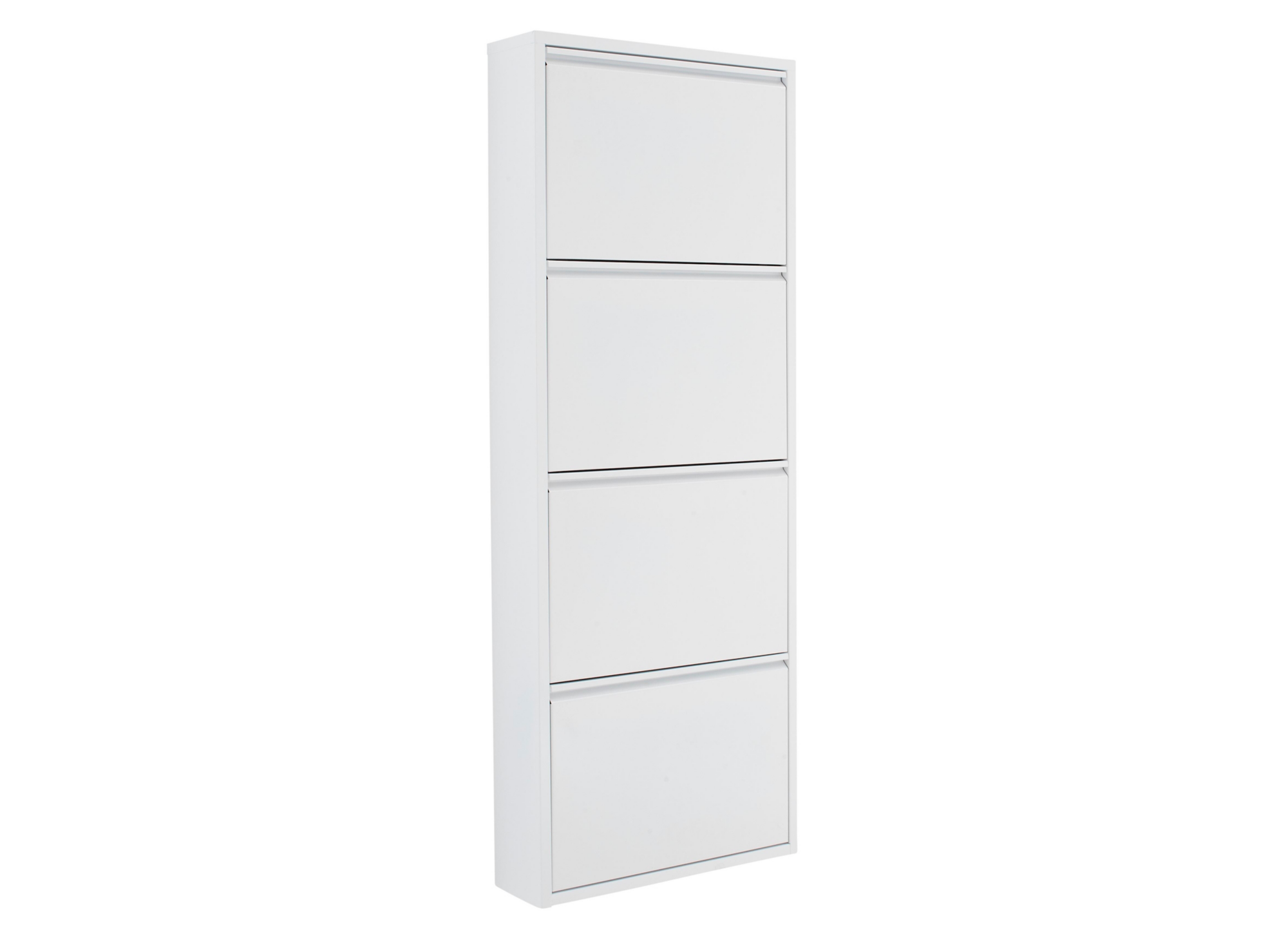 meuble a chaussures 4 abattants blanc meuble chaussures rangement meuble fly. Black Bedroom Furniture Sets. Home Design Ideas