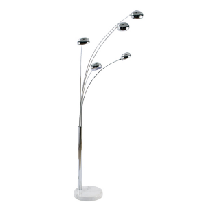 FLY-lampadaire 5 tetes h. 218 cm chrome