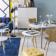 Table ovale blanc/hetre structure et plateau en panneau de fibres de ...