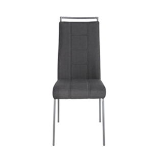 FLY-Chaise assise anthracite poignée et pieds gris