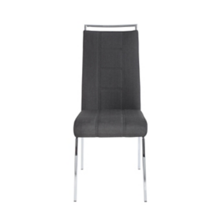 FLY-CHAISE ASSISE ANTHRACITE POIGNEE ET PIEDS CHROMES