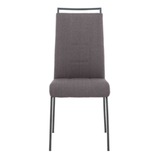 FLY-Chaise assise taupe poignée et pieds gris