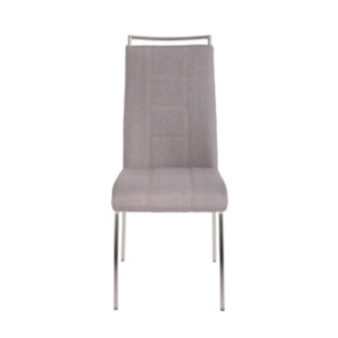 FLY-Chaise assise taupe poignée et pieds inox
