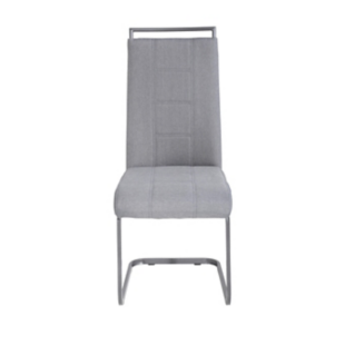 FLY-Chaise assise grise pied luge laque gris