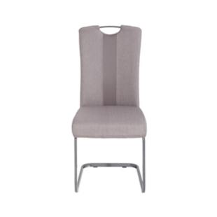 FLY-Chaise assise grise/taupe poignée et pied luge  gris