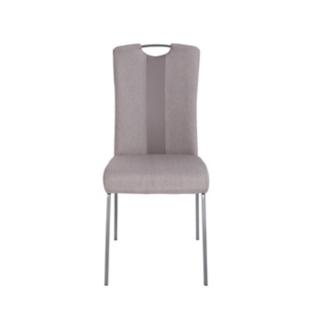 FLY-Chaise assise grise poignée et pieds gris