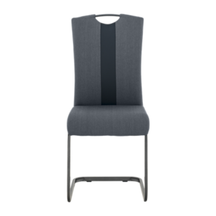 FLY-CHAISE ASSISE ANTHRACITE/NOIR POIGNEE ET PIED GRIS