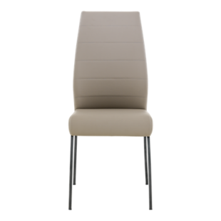 FLY-CHAISE ASSISE CAPUCCINO PIEDS GRIS