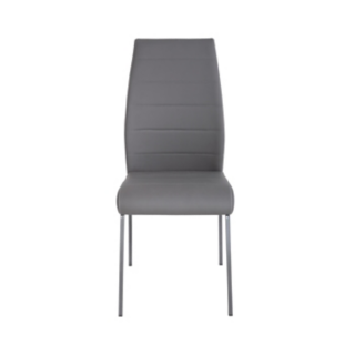 FLY-Chaise assise grise pieds laques gris