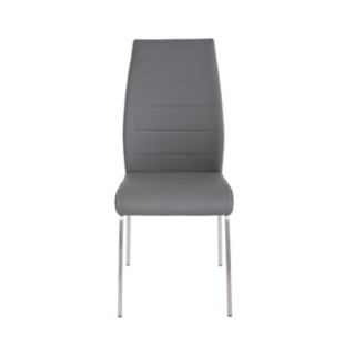 FLY-Chaise assise grise pieds inox