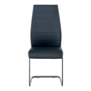 FLY-CHAISE ASSISE NOIRE PIED LUGE GRIS