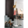 Porte manteaux h182cm partie haute en hevea avec pateres en tube laqu ...