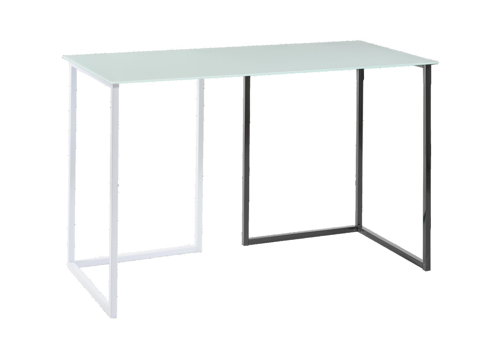 <p> Plateau en verre trempe ep.0.6cm teinte blanc, L.120 cm. Pi ...
