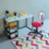 Chaise de bureau : structure assise et dossier en panneaux de fibre d ...