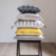 Coussin 45x45 revetu 100% coton garni 100% polyester coloris moutarde ...