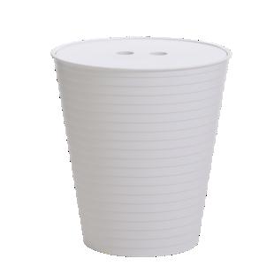 FLY-Pouf gobelet DRINK blanc/blanc