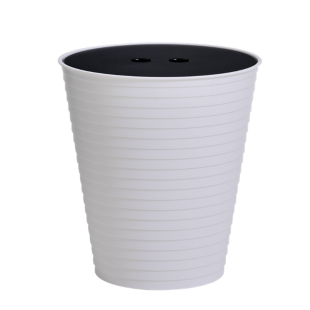 FLY-Pouf gobelet DRINK blanc/noir
