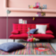 Tapis 140x200 100% coton coloris rose/multicolore densite 1500gr/m2 ...