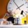 Vase h20.5cm en gres emaille decor en decalcomanie coloris blanc moti ...