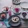 Assiette a dessert d21cm en gr es - coloris noir/blanc -resiste au la ...