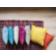Coussin 40x40 revetu 100% lin garni 100% polyester coloris gris densi ...
