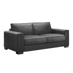 FLY-Canapé composable 2 pl cuir Noir
