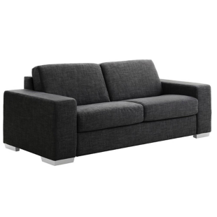 FLY-Canapé convertible composable 3 pl tissu luxury anthracite