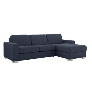 FLY-Canapé d'angle convertible composable tissu etna bleu