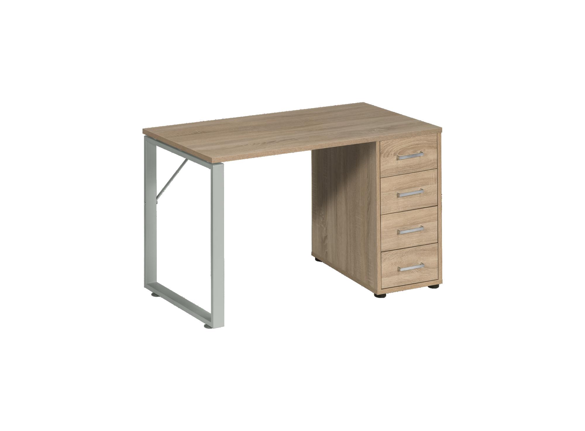 Bureau plateau chene l120 cm bureau bureau meuble fly for Meuble bureau salon
