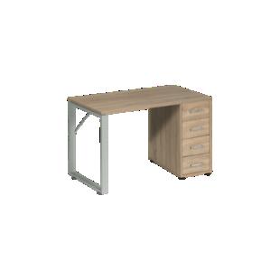 FLY-Bureau plateau chene L120 cm