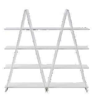 FLY-Étagère structure blanche/tablettes coloris blanc