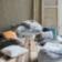 Coussin 30x50 revetu 100% coton garni 100% polyester coloris gris/noi ...
