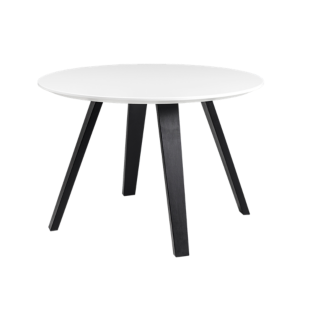 FLY-Table blanche pieds multiplis hetre noir
