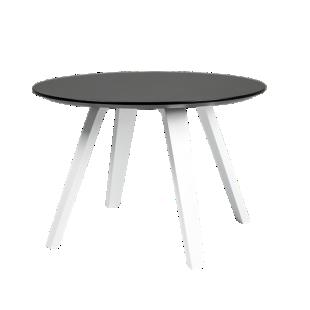 FLY-Table noire pieds multiplis de hetre laque blanc