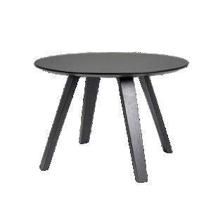 FLY-Table noire pieds multiplis de hetre laque noir